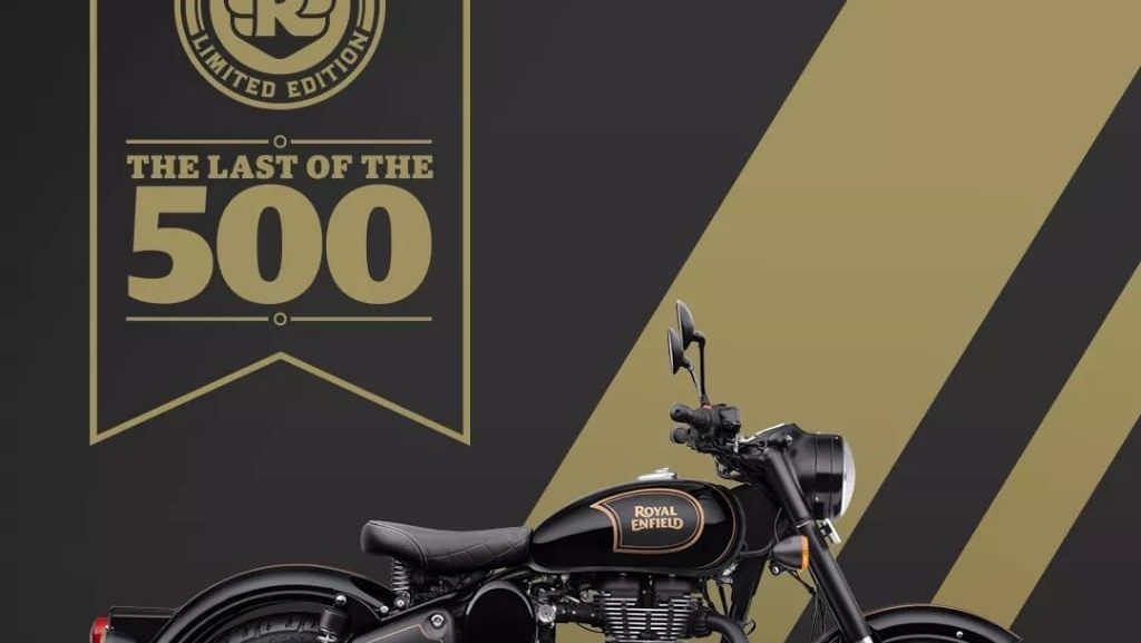 Limited Edition Royal Enfield Classic 500 Tribute Black Lamba Enfield